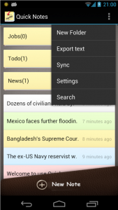 Quick Notes is a battery saving Android notepad notes app M2AppMonitor report