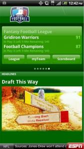 ESPN Fantasy Football featured in M2AppMonitor Football Report