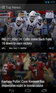 theScore is a popular Android sports app M2AppMonitor
