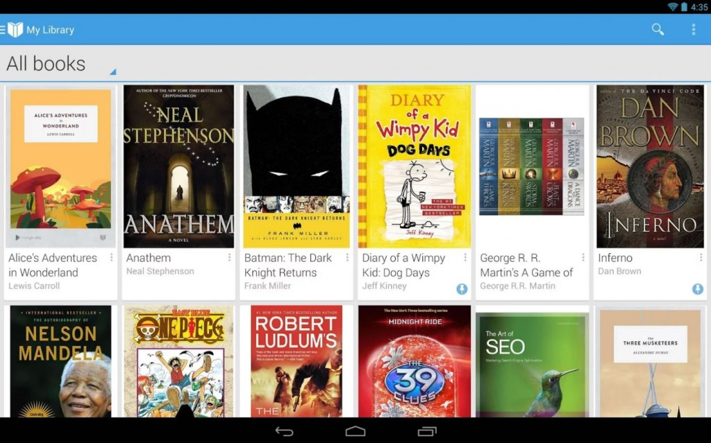 Google Play Books is a highly used ereader app for Android