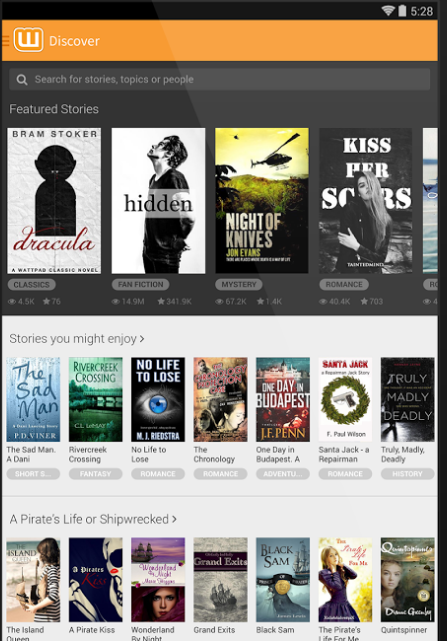 Wattpad is a highly used ebook reader app M2AppMonitor